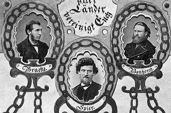 """Samuel Spier on an excerpt from the famous Kettenbild (""""chain picture""""), published in 1872 together with Wilhelm Bracke's account of the """"Lötzen Chain Affair""""."""